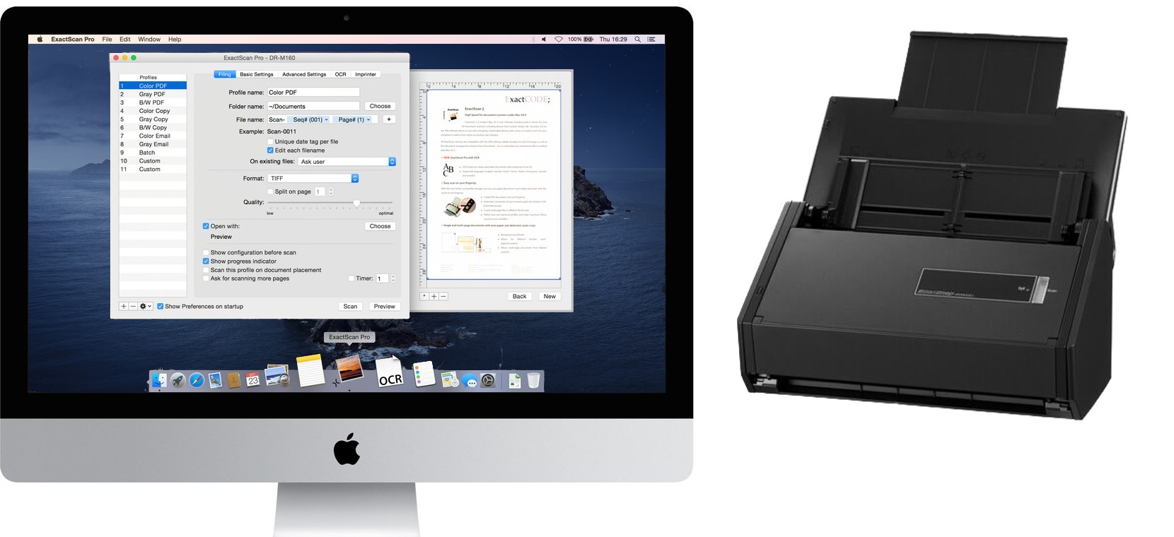 ExactScan - High Speed Document Scanning